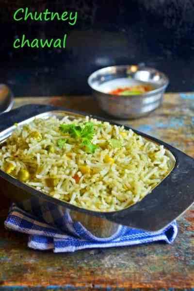 Mint-coriander pulao reipe | chutney chawal recipe | Pulao recipes
