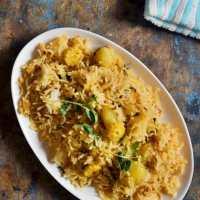 Aloo methi pulao recipe | how to make pulao with potato and methi leaves