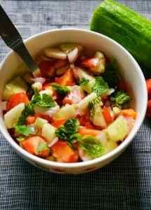 Kachumber (cucumber,onion,tomato salad) recipe | how to make kachumber