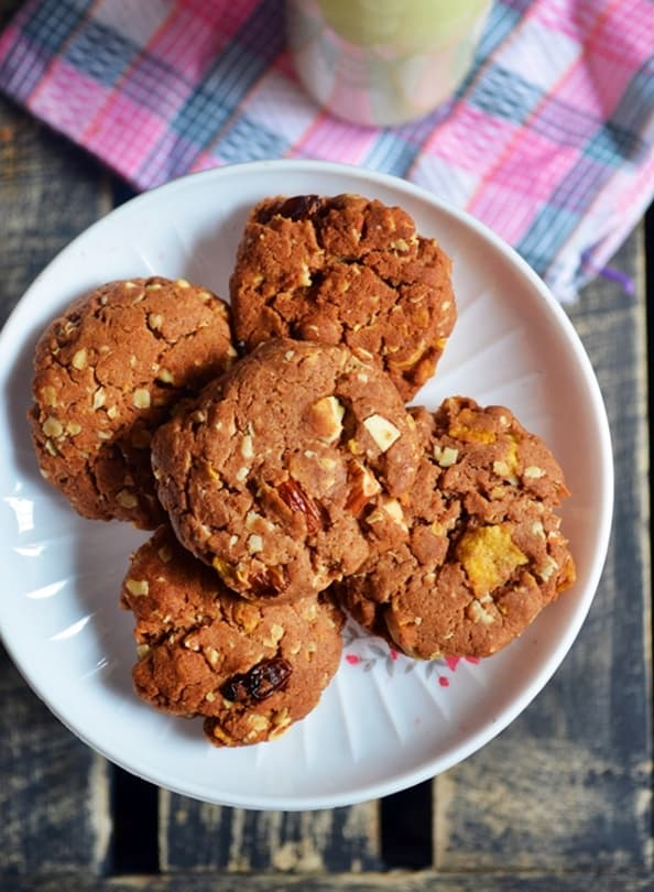 eggless breakfast cookies recipe2