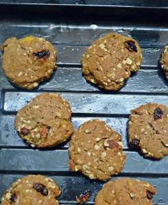 eggless breakfast cookies step10