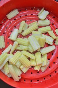 baby corn stir fry step 1