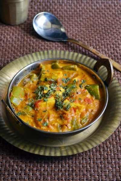 Paneer capsicum masala recipe,how to make paneer capsicum