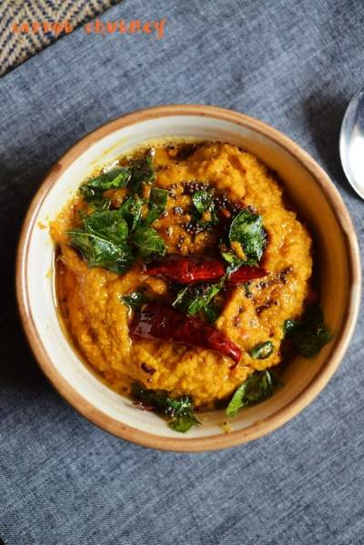 carrot chutney recipe | easy side dish for idly/dosa |easy chutney recipes