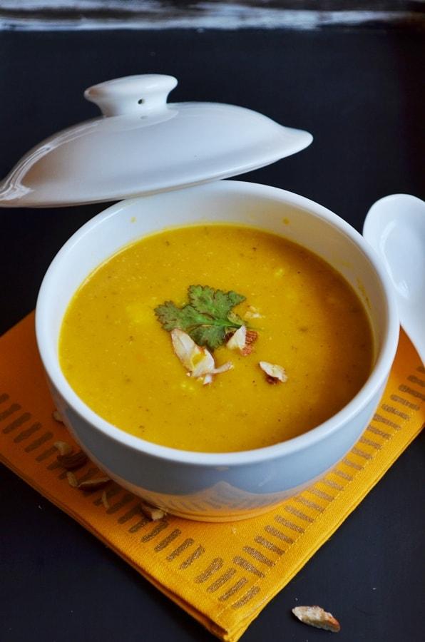carrots almond oats soup recipe2