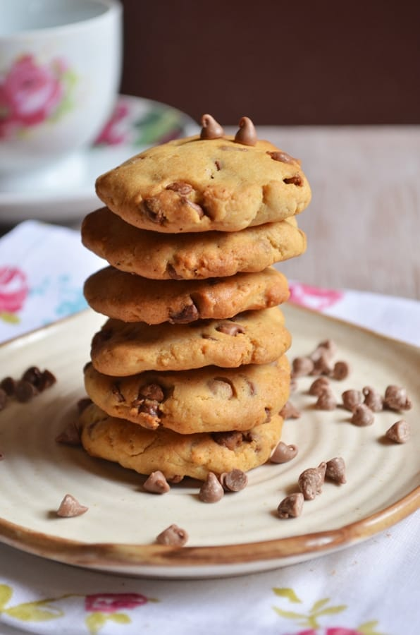 Eggless choc chip cookies recipes