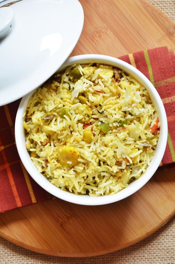 double beans methi pulao recipe 3