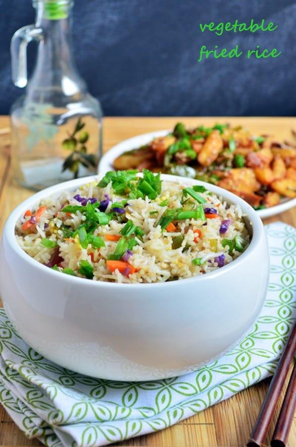vegetable fried rice | Restaurant style veg fried rice