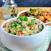 Restaurant style vegetable fried rice recipe | Indian street food recipes