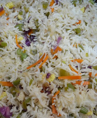 Restuarant style vegetable fried rice step4