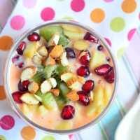 Easy fruit custard recipe | fruit salad with custard recipe