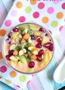 Easy fruit custard recipe   fruit salad with custard recipe