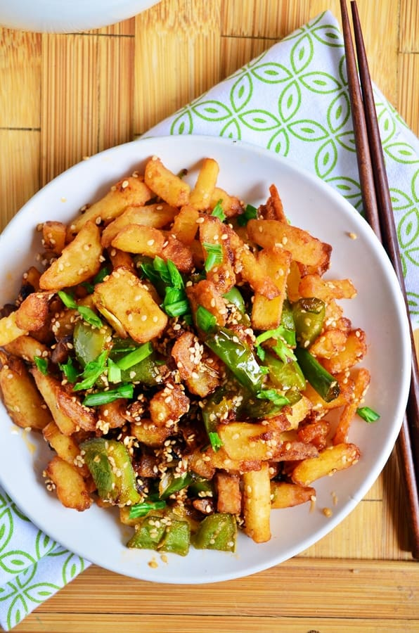 Sesame chilli potatoes recipe