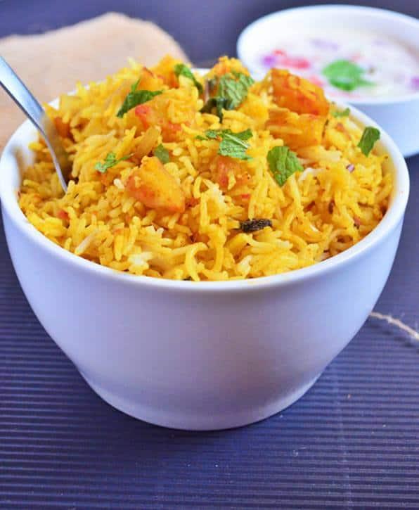 easy potato pulao recipe