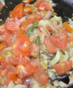kadai paneer-saute tomatoes