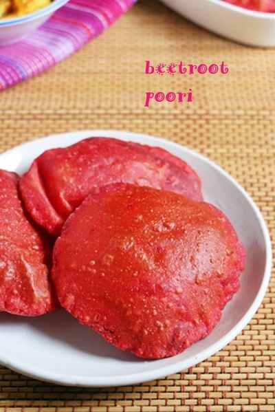 beetroot poori recipe | Toddlers and kids breakfast recipes