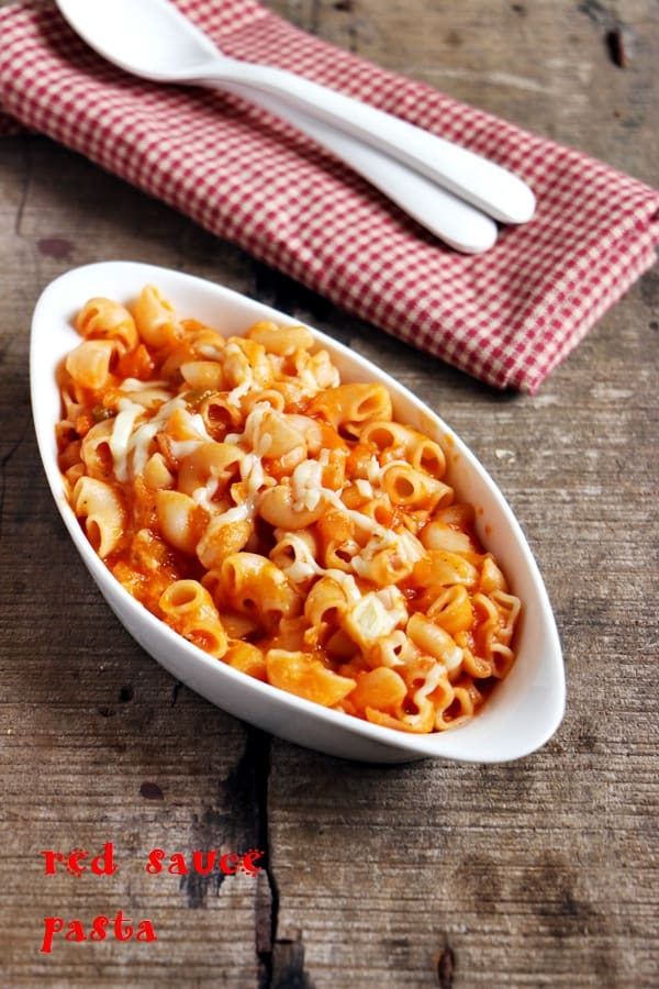 pasta in red sauce recipe