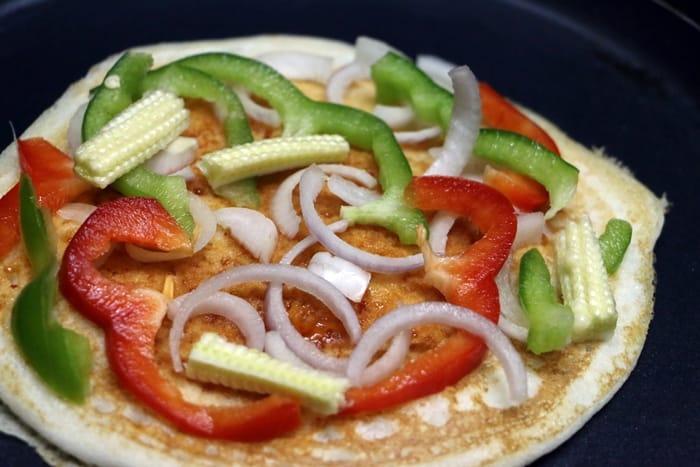 uthappam pizza step 4