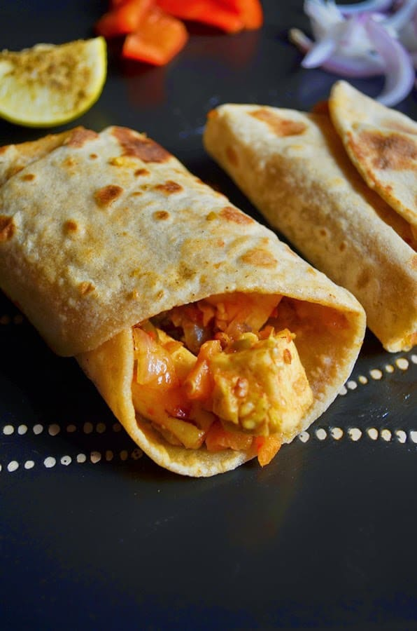 veg kathi roll