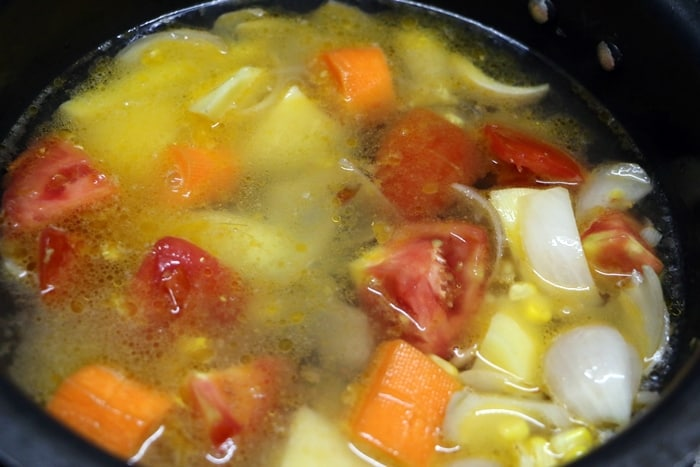 veg pasta soup step 3