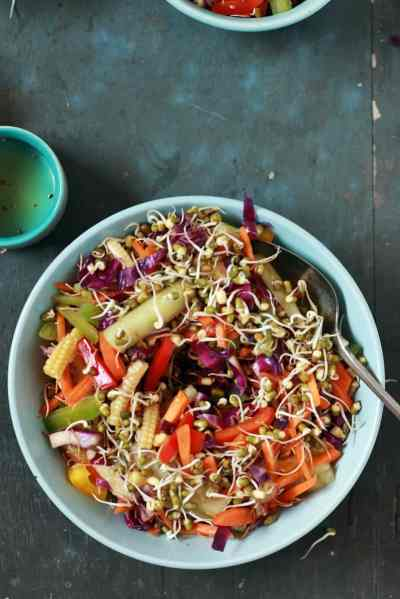Vegetable salad recipe | Veg salad recipe with sprouts