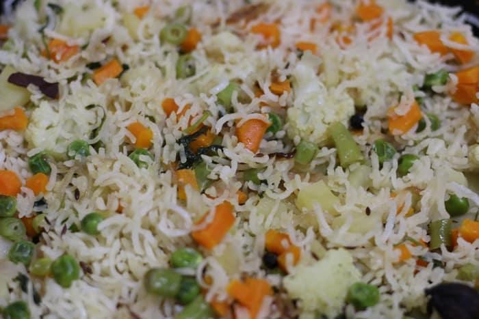 veg pulao step 7