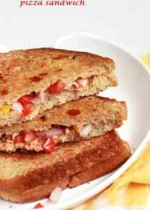 Pizza sandwich recipe, how to make pizza sandwich