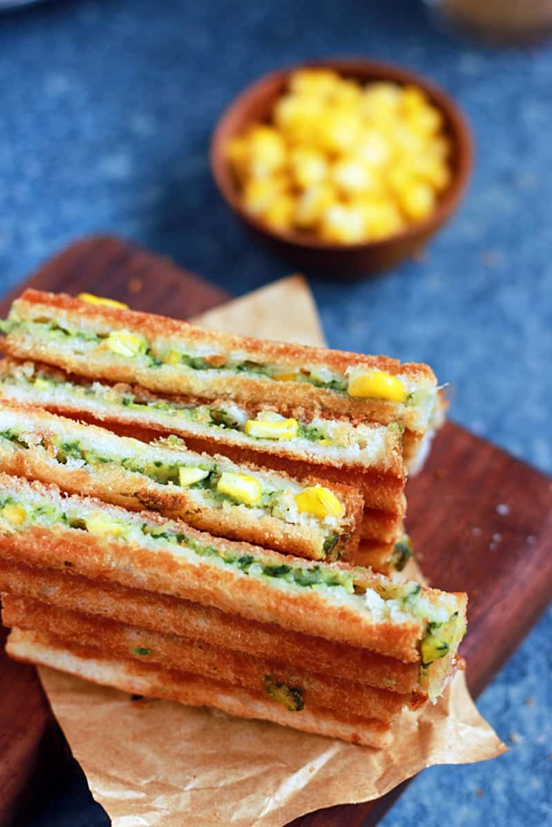 spinach corn sandwich recipe