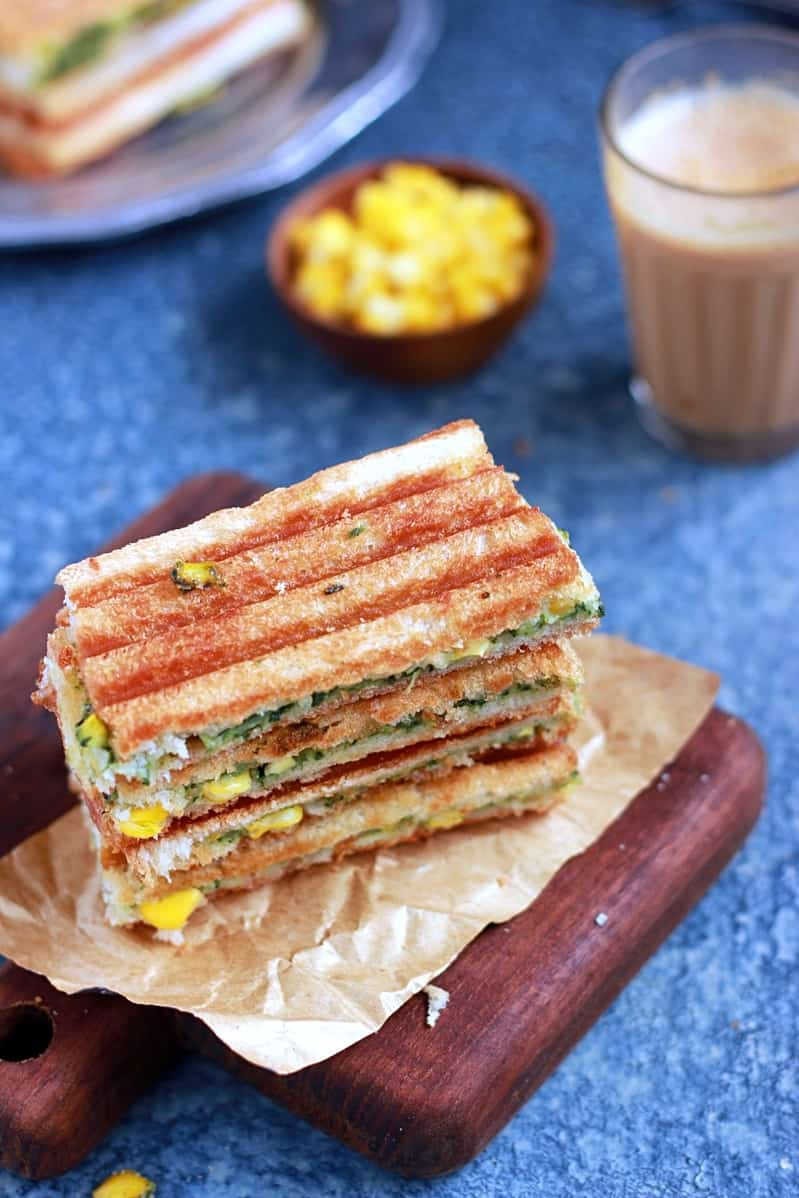 spinach corn sandwich recipe b