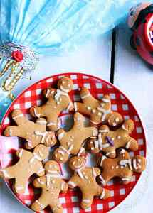 Gingerbread man cookies recipe with eggless royal icing