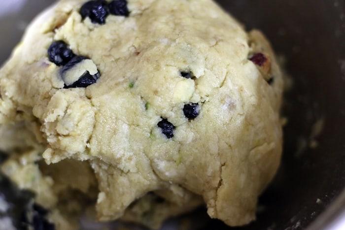 cranberry pistachi biscotti step 3
