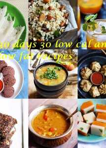 30 days 30 low fat and low cal recipes