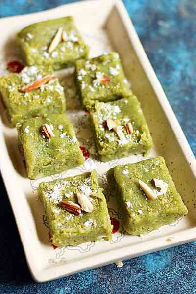 Badam pista burfi recipe | how to make easy pista badam burfi recipe