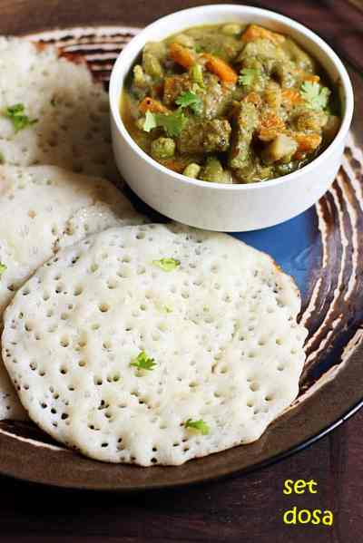 Set dosa recipe | How to make set dosa sagu | How to make sponge dosa