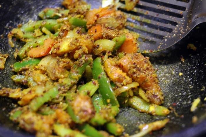 veg kholapuri recipe step 8