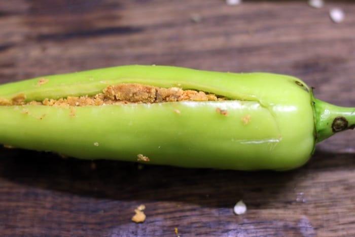 cut mirchi bajji recipe step 5