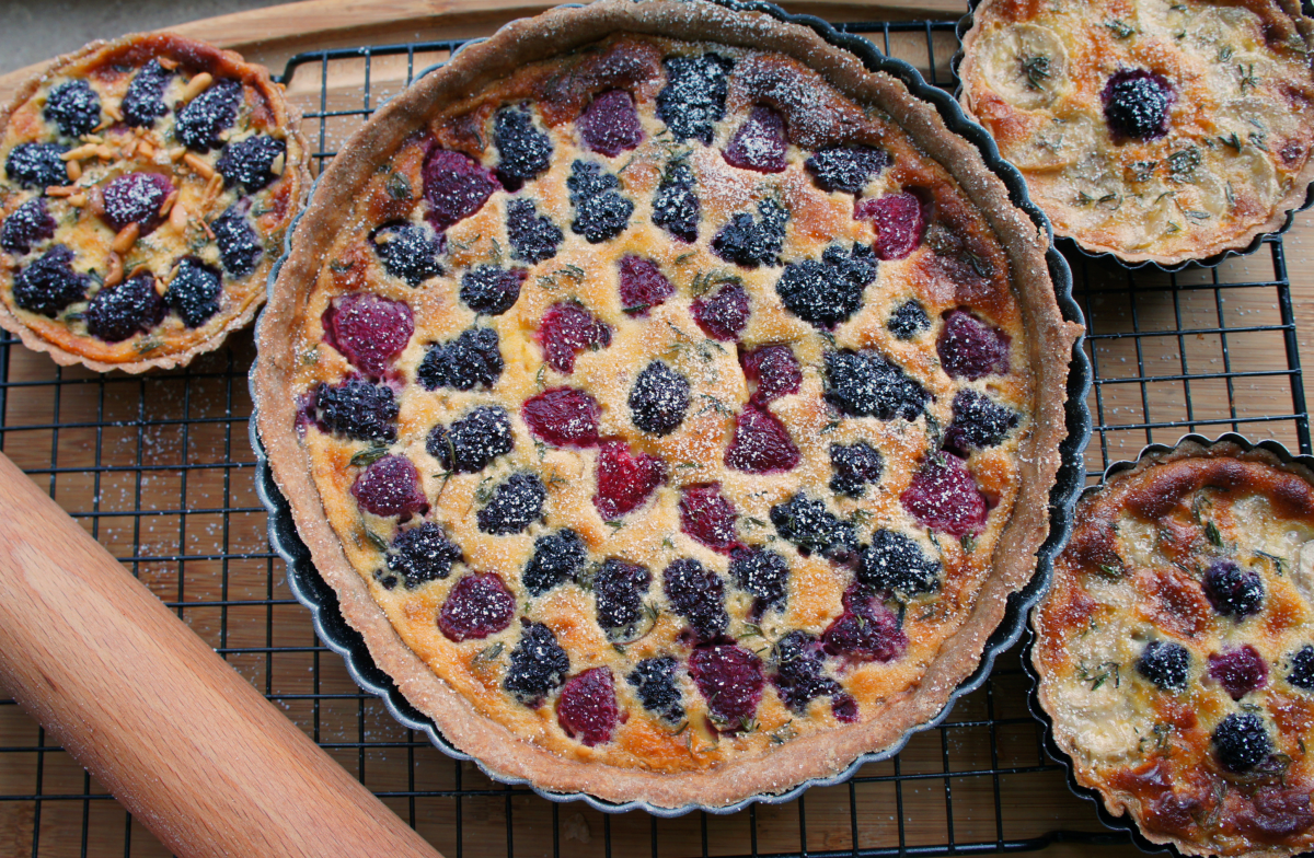 Summer Berry Tart with Whole Wheat Crust