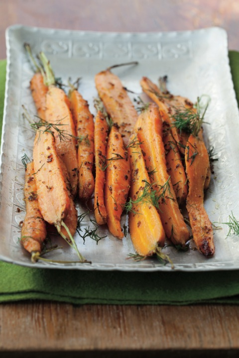 Recipe: Roasted Carrots with Mustard
