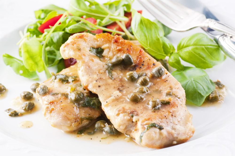 Chicken Piccata or How to Pan-Fry Chicken Breasts