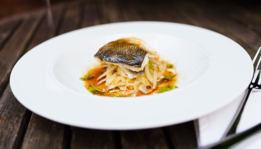 Sea Bass & Orange Fennel With A Soy, Mirin & Citrus Sauce