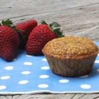 Muffins de amêndoas -- sem açúcar, sem gordura e sem farinha!
