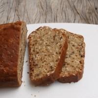 Pão rápido escandinavo com sementes de girassol