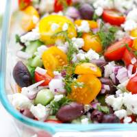 Mediterranean Seven Layer Dip With Hummus