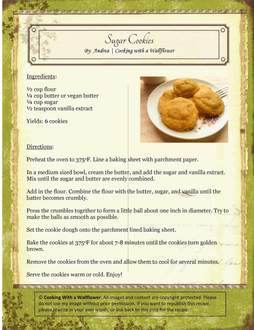 Exciting Sugar Cookies Recipe Card Sugar Cookies Cooking A Wallflower Sugar Cookies No Butter Or Oil Chocolate Sugar Cookies Without Butter