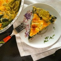 Crustless Spinach and Artichoke Quiche