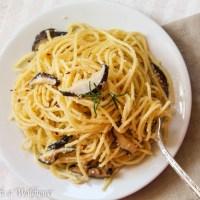 Shiitake Mushroom Garlic Parmesan Noodles