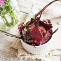 Baked Sea Salt and Pepper Beet Chips