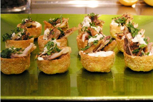 smoked mackerel with horseradish cream