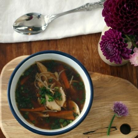 Low FODMAP, Chicken Soup Recipe