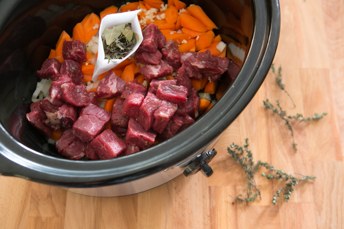 Paleo Slow Cooker Fresh Vegetable-Beef-Barley Soup